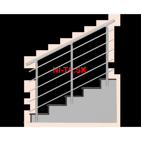 Okrúhle zábradlie na schody NI-TA