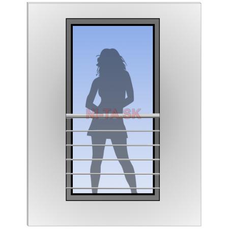 Zábradlie na francúzske okná model NI-TA
