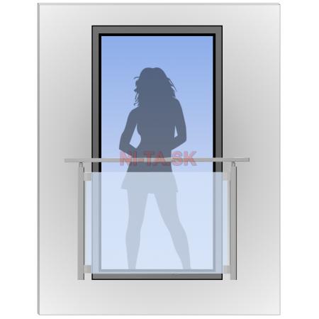 Zábradlie na francúzske okno NI-TA imitácia nerez