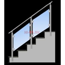 Hliníkové zábradlie S4BS-2 1000x1000 BS NI-TA