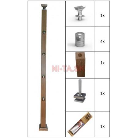 Dubový hranatý stĺpik NI-TA