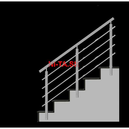 Nerezové zábradlie HN4SB-2 1000x900 BS NI-TA