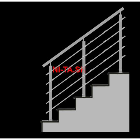 Nerezové zábradlie HN5SH-2 1000x1000 HS NI-TA