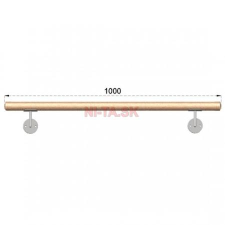 Drevené madlo BUK (BEECH) D42xL1000mm NI-TA