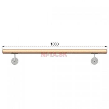 Drevené madlo DUB (OAK) D42xL1000mm NI-TA