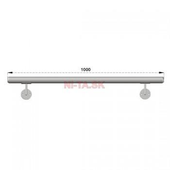 Hliníkové madlo D50xL1000 farba silver NI-TA